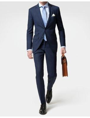 Приталенный мужской костюм SE