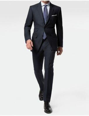 Мужской костюм приталенный цвет воронье крыло SE