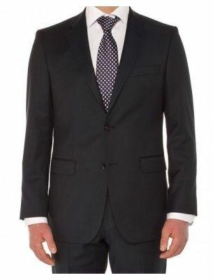 Классический костюм мужской черный Sergio Ellini