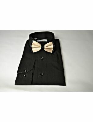 Рубашка мужская черного цвета SE