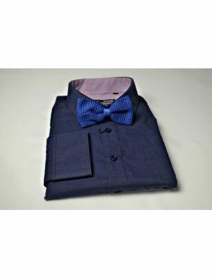 Стильная рубашка темно-синяя SE