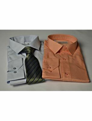 Однотонная рубашка мужская SE