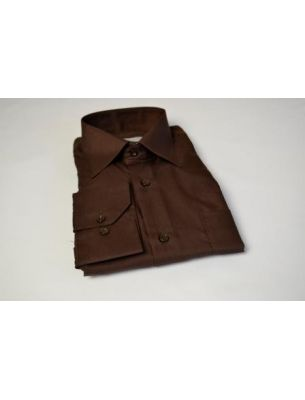 Мужская рубашка коричневая SE