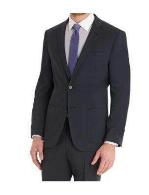 Мужской деловой костюм приталенный цвета индиго Sergio Ellini