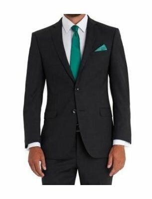 Мужской костюм приталенный чёрного цвета Sergio Ellini