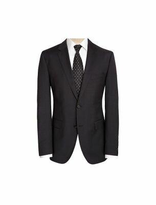 Мужской классический костюм черного цвета Sergio Ellini