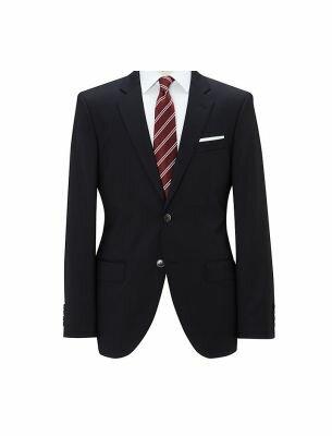Элегантный черный мужской костюм SE