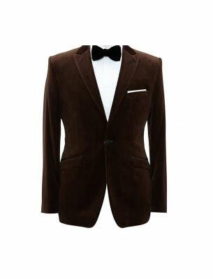 Костюм приталенный коричневого цвета Sergio Ellini