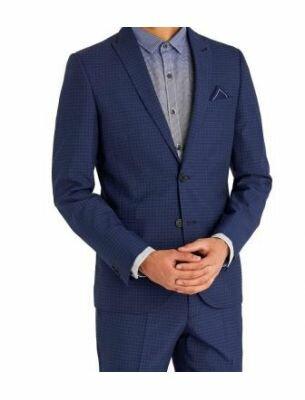 Стильный синий костюм в клетку Sergio Ellini