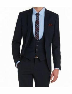 Мужской костюм тройка синего цвета SE