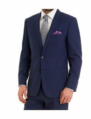 Стильный мужской костюм в полоску Sergio Ellini