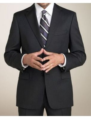 Мужской костюм черного цвета SE
