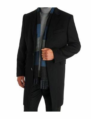 Мужское пальто короткое черного цвета SE