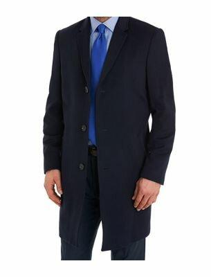 Мужское пальто темно-синее SE