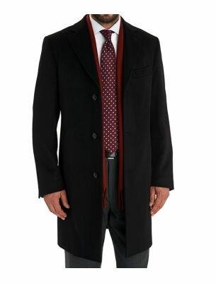 Пальто кашемировое мужское черное SE