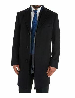 Мужское пальто стильное черное SE