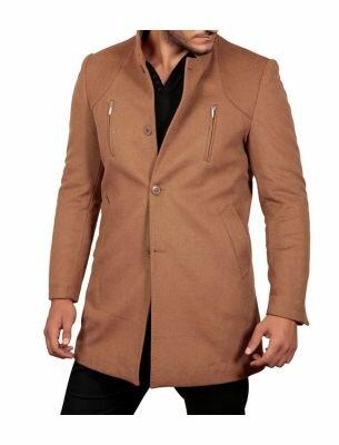 Пальто мужское светло-коричневое