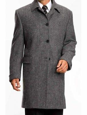 Мужское пальто серого цвета SE