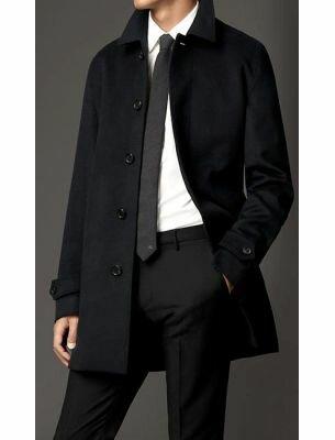 Мужское пальто элегантное черное SE