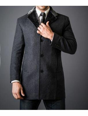 Пальто мужское серое SE