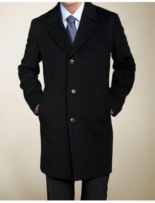 Элегантное мужское пальто черное SE