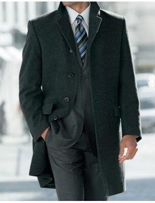 Мужское пальто классическое серое SE