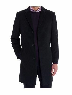 Мужское пальто черное SE