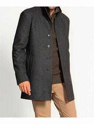 Молодежное мужское пальто серое SE