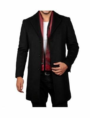 Молодежное пальто мужское