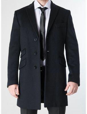 Мужское пальто короткое черное SE