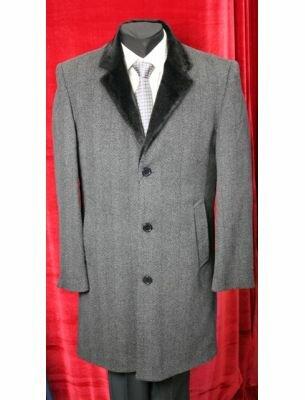 Роскошное, серое пальто мужское