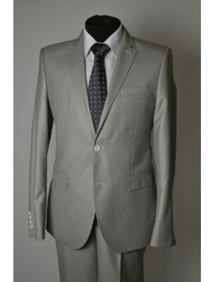 Пиджак светло-серый приталенный
