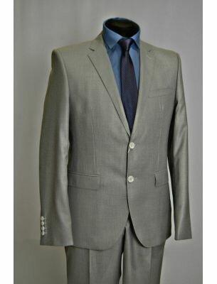 Приталенный пиджак светло-серый