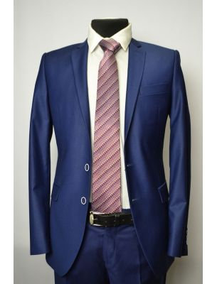 Мужской пиджак синего цвета (cапфир)