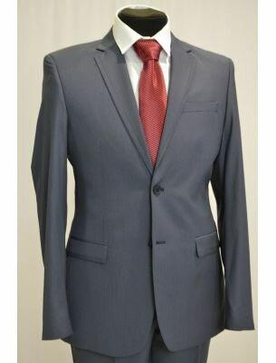 Классический костюм светло-голубой в полоску