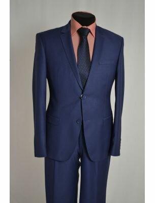 Мужской костюм полуночно-синего цвета