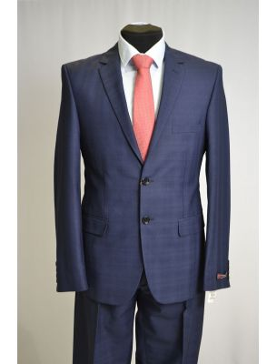 Пиджак темно-синего цвета с фактурной крупной клеткой