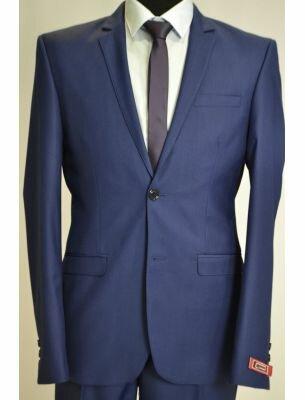 Костюм мужской приталенный синего цвета
