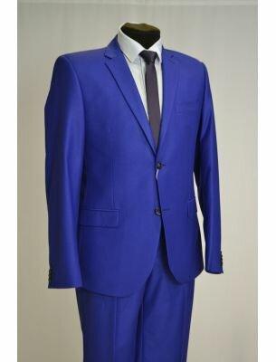 Костюм мужской приталенный синего (ультрамаринового) цвета