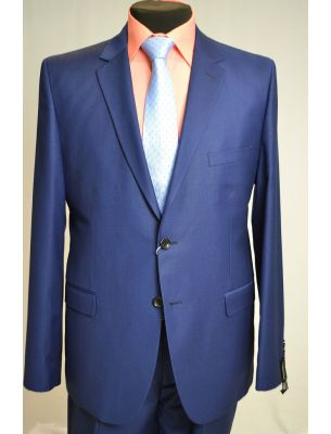 Костюм мужской приталенный синего цвета (берлинская лазурь)