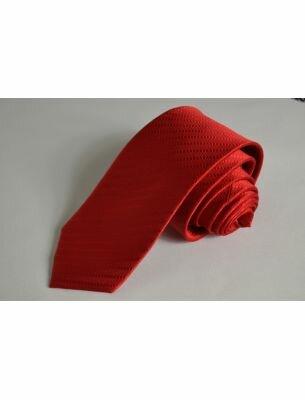 Галстук красный с фактурным рисунком
