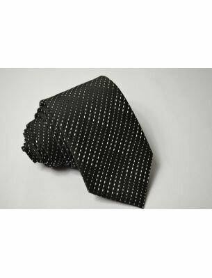 Галстук черный с белым рисунком