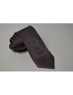 Мужской галстук коричневый