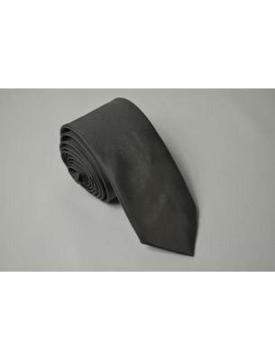 Галстук серого цвета однотонный