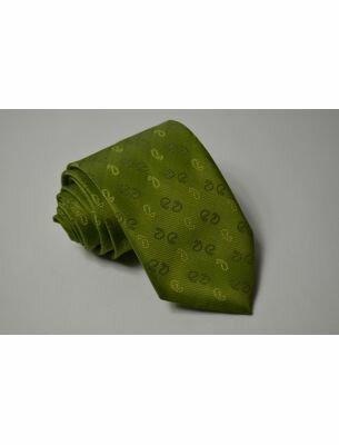 Галстук зеленый с рисунком